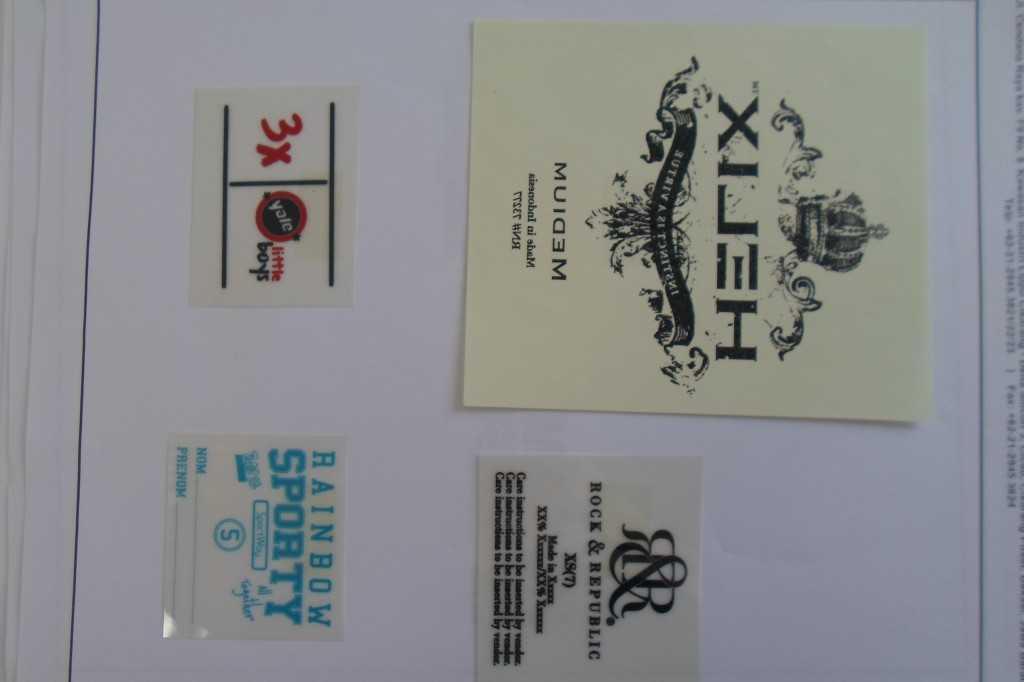 Heat Transfer Label (HTL) Product